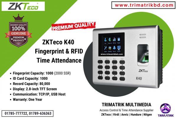 ZKTeco K40, Time Attendance Terminal in BD