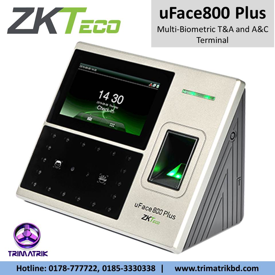 ZKTeco uFace800 Plus in BD | Best Latest ZKTeco uFace800 Plus Price in BD 2021