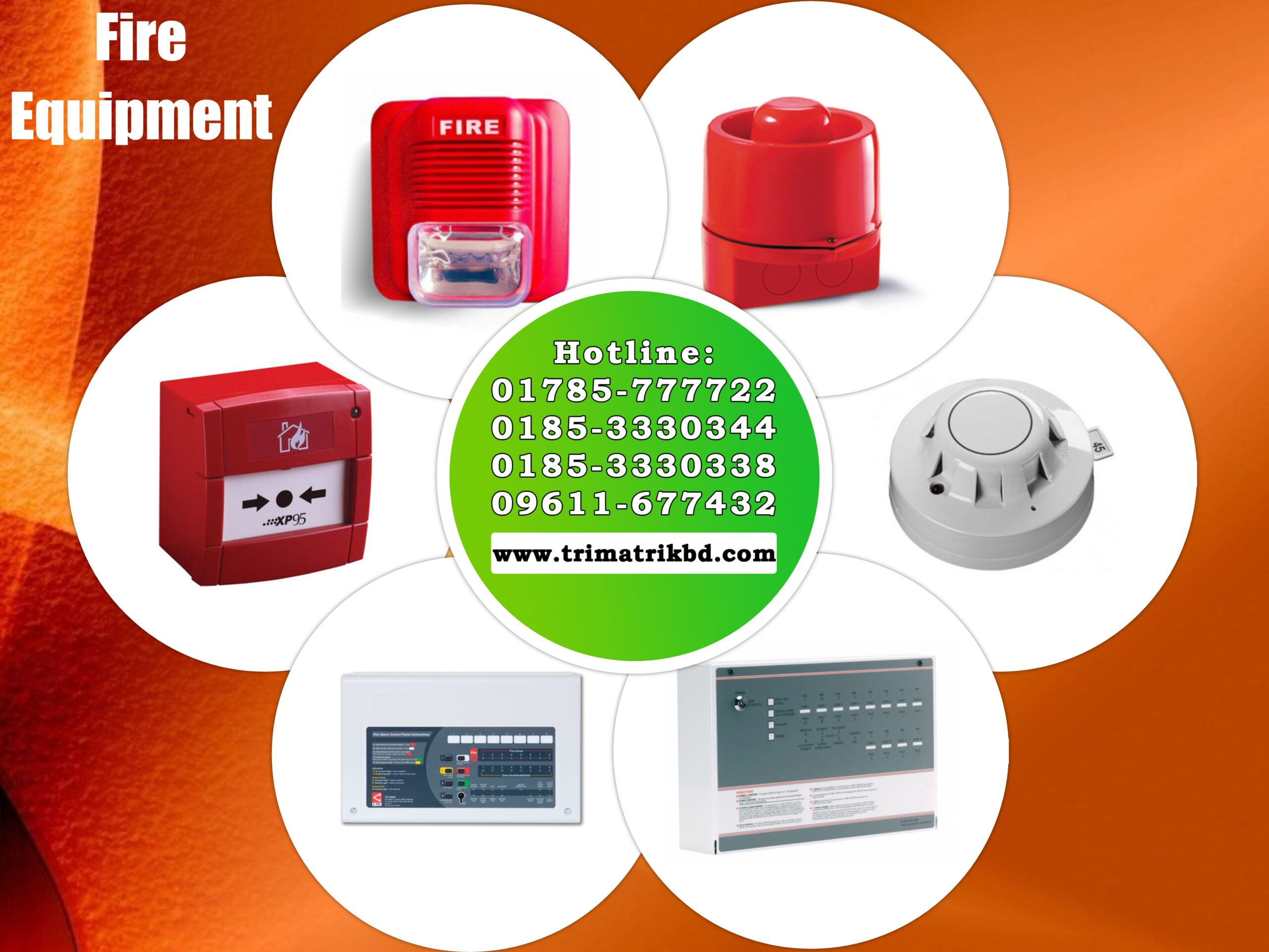Fire Alarm, Fire Extinguisher, AFO Fire Ball, Smoke Detector Supplier in Bangladesh